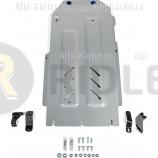 Защита алюминиевая Rival для КПП и РК Genesis G70 4WD 2018-2021. Артикул 333.2844.1