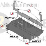Защита Alfeco для картера и КПП Seat Ibiza IV Mk4 2008-2012. Артикул ALF.20.15 st