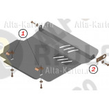 Защита 'Alfeco' для картера и КПП Daihatsu Sirion M1 1998-2005. Артикул ALF.24.80