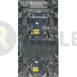 Защита Мотодор для переднего дифференциала, КПП Bentley Continental GT 4Х4 2003-2007. Артикул 16801