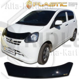 Дефлектор СА Пластик для капота (Classic черный) Daihatsu Mira e:S 2011-2017. Артикул 2010010112257