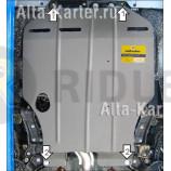 Защита Мотодор для картера, КПП Brilliance M2 2006-2021. Артикул 05101