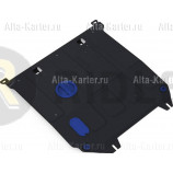 Защита Rival для картера и КПП Haima M3 МКПП 2014-2021. Артикул 111.7003.1