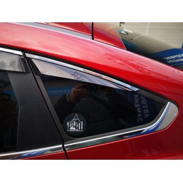Дефлекторы Cobra Tuning (с хром. молдингом) для окон (для форточек) Renault Arkana 2019 по наст. вр.. Артикул R14619(3)CR