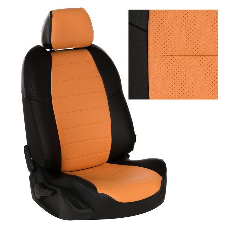 Черный + оранжевый
