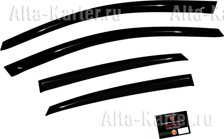 Дефлекторы Cobra Tuning Stilet для окон Volkswagen Polo V седан 2010 по наст. вр.. Артикул ST035