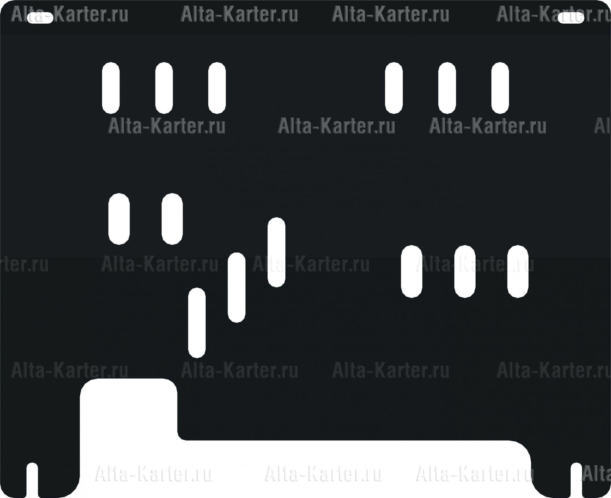 Защита Alfeco для картера и КПП Opel Corsa D 2006-2014. Артикул ALF.16.03