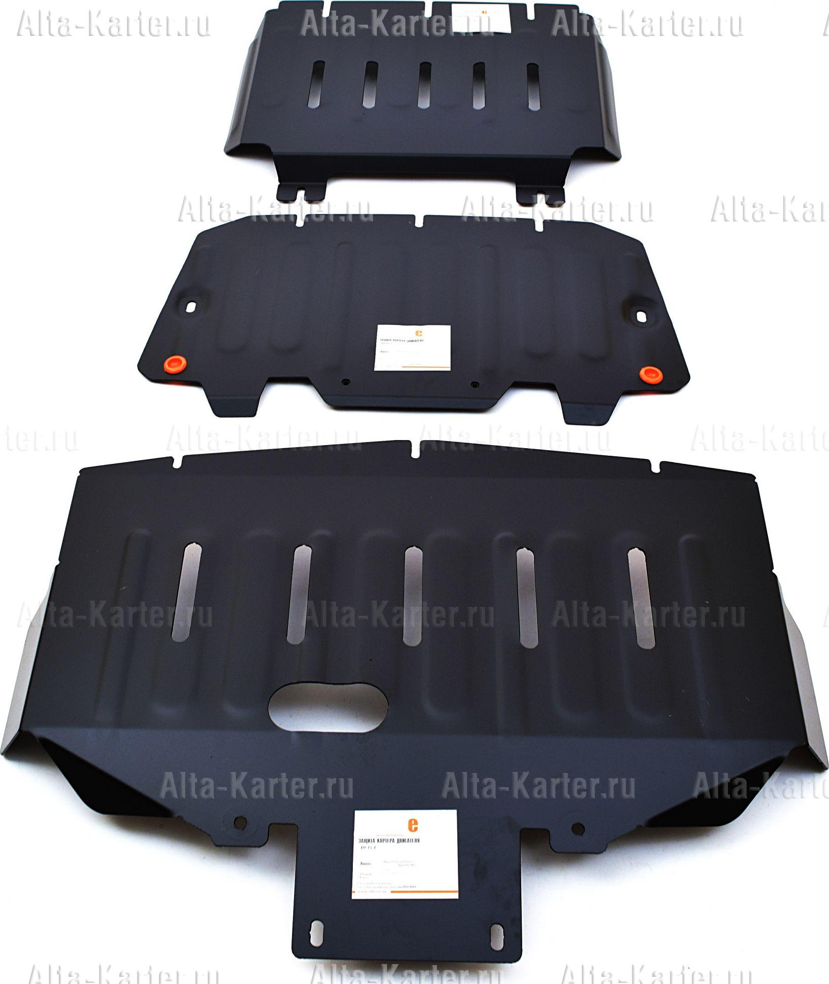 Защита Alfeco для картера и КПП Hyundai Grand Starex H1 RWD 2007-2021. Артикул ALF.10.35