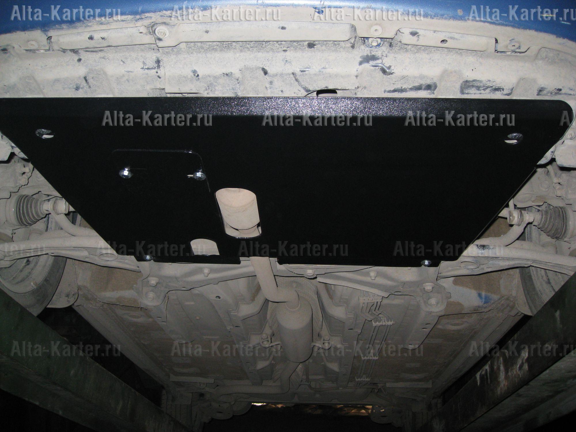 Защита Alfeco для картера и КПП Toyota Yaris P2 2005-2011. Артикул ALF.24.09