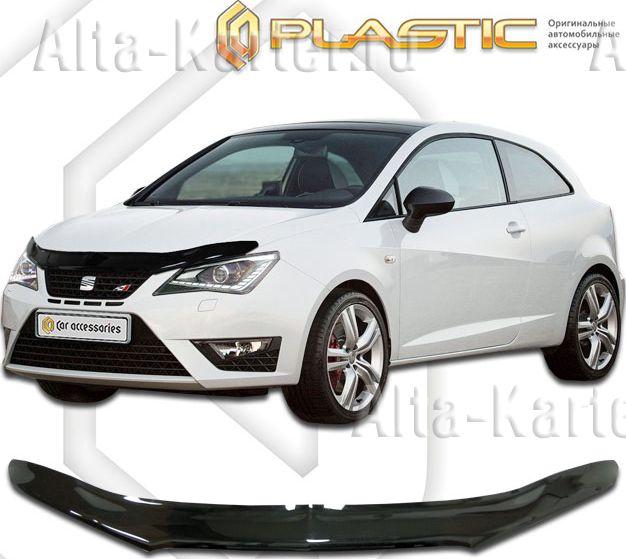Дефлектор СА Пластик для капота (Classic черный) Seat Ibiza 2012 по наст. вр.. Артикул 2010010109301