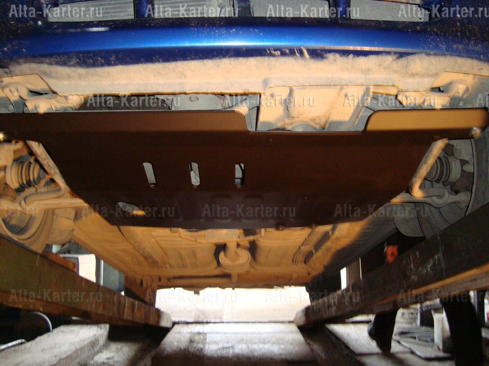 Защита Alfeco для картера и КПП Mazda 121 1996-2000. Артикул ALF.13.08