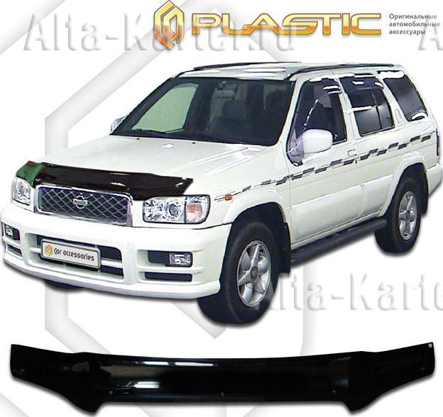 Дефлектор СА Пластик для капота (Classic черный) Nissan Terrano R50 2002-2006. Артикул 2010010105419