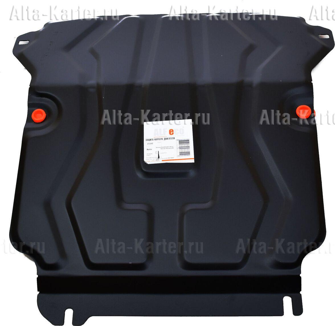Защита Alfeco для картера и радиатора Nissan Pathfinder R51 2004-2014. Артикул ALF.15.05 st
