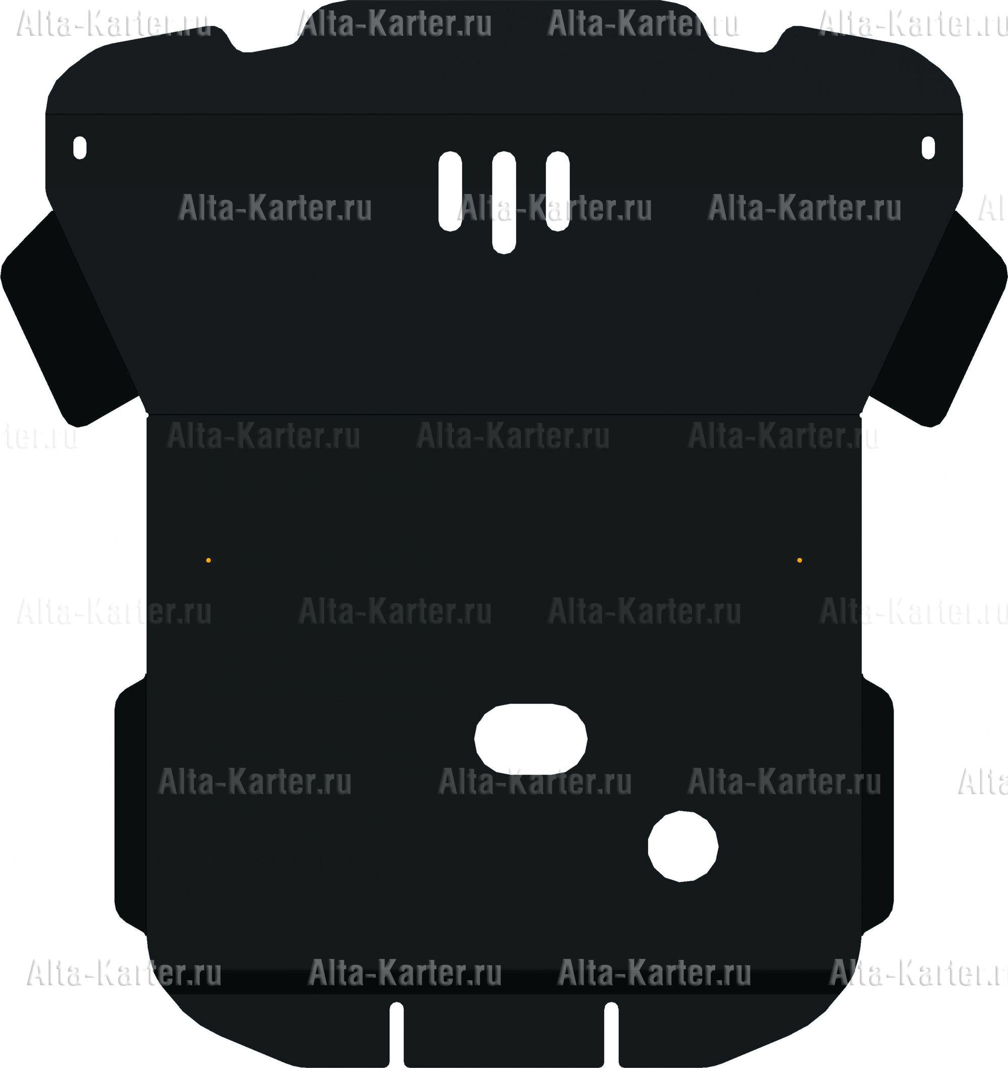 Защита Alfeco для картера SsangYong Rexton II Y250 2006-2012. Артикул ALF.21.05