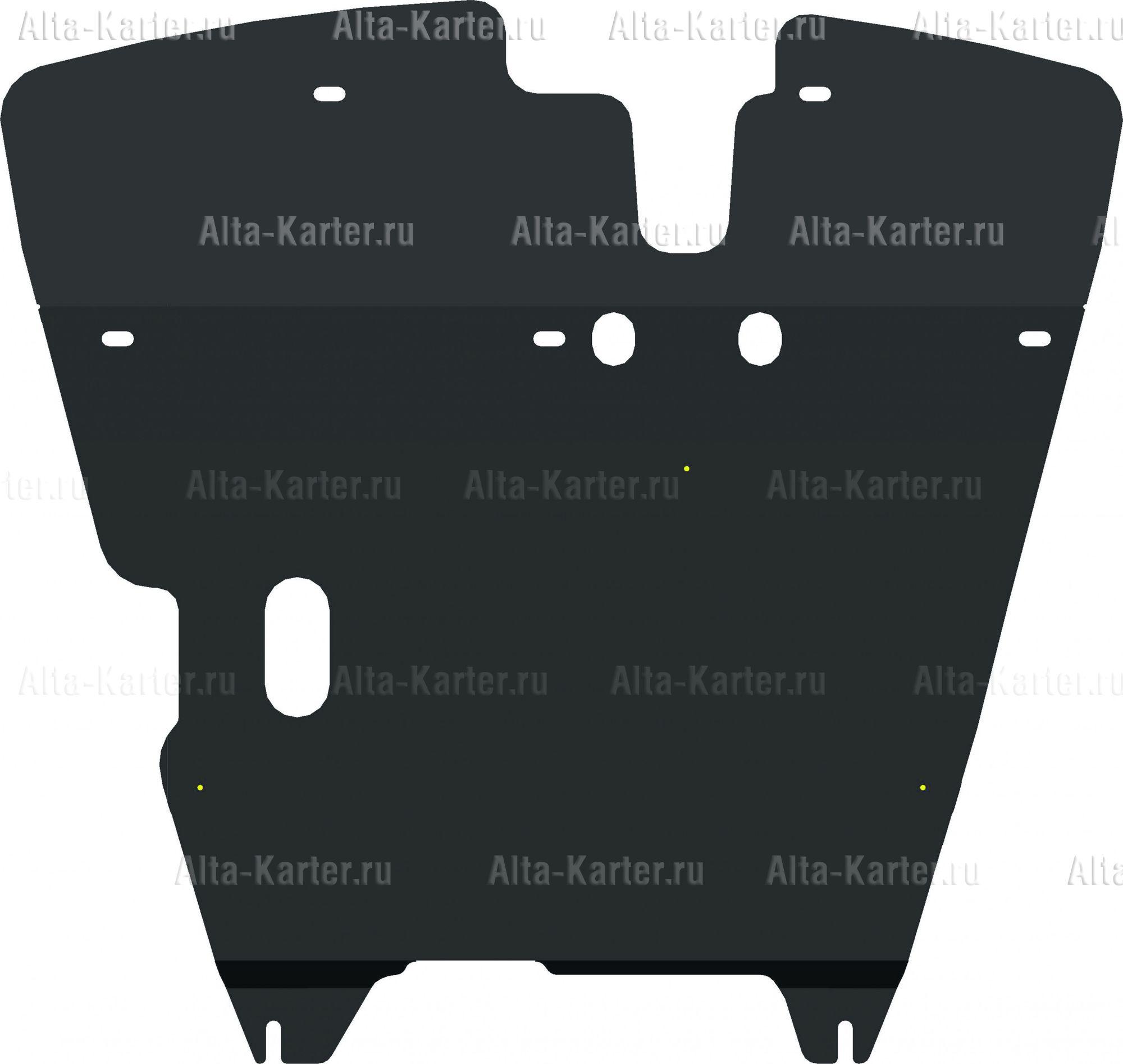 Защита Alfeco для картера и КПП Mitsubishi Lancer 8 1996-2000. Артикул ALF.14.24