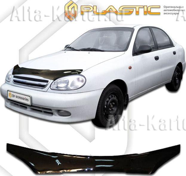 Дефлектор СА Пластик для капота (Classic черный) для Zaz Sens седан 2004-2009. Артикул 2010010100155