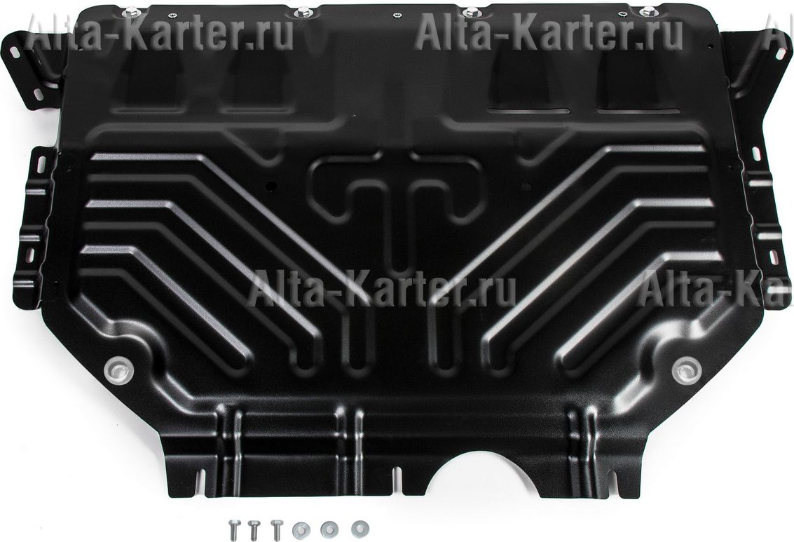 Защита AutoMax картера и КПП для Volkswagen Tiguan II 2017-2021. Артикул AM.5120.1