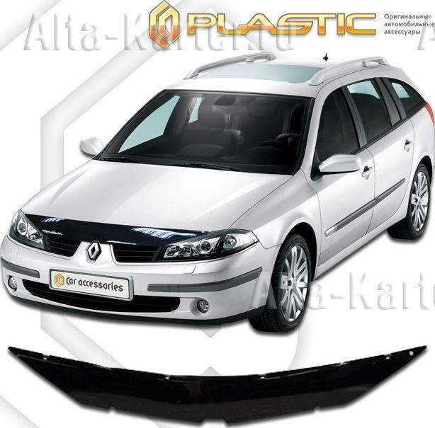 Дефлектор СА Пластик для капота (Classic черный) Renault Laguna 2000–2007. Артикул 2010010101602