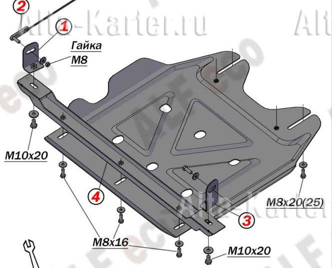 Защита Alfeco для РК Mitsubishi L200 V 2015-2021. Артикул ALF.14.49 AL4