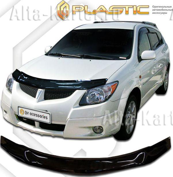 Дефлектор СА Пластик для капота (Classic черный) Pontiac Vibe 2002-2008. Артикул 2010010104481