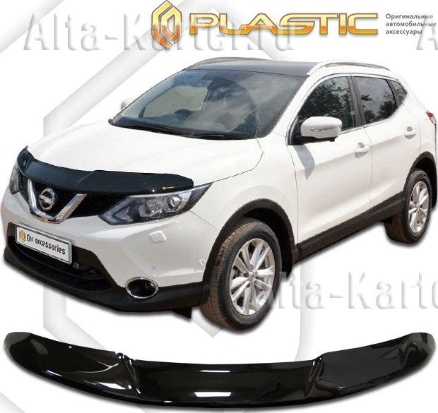 Дефлектор СА Пластик для капота (Classic черный) Nissan Qashqai II 2014 по наст. вр.. Артикул 2010010110161