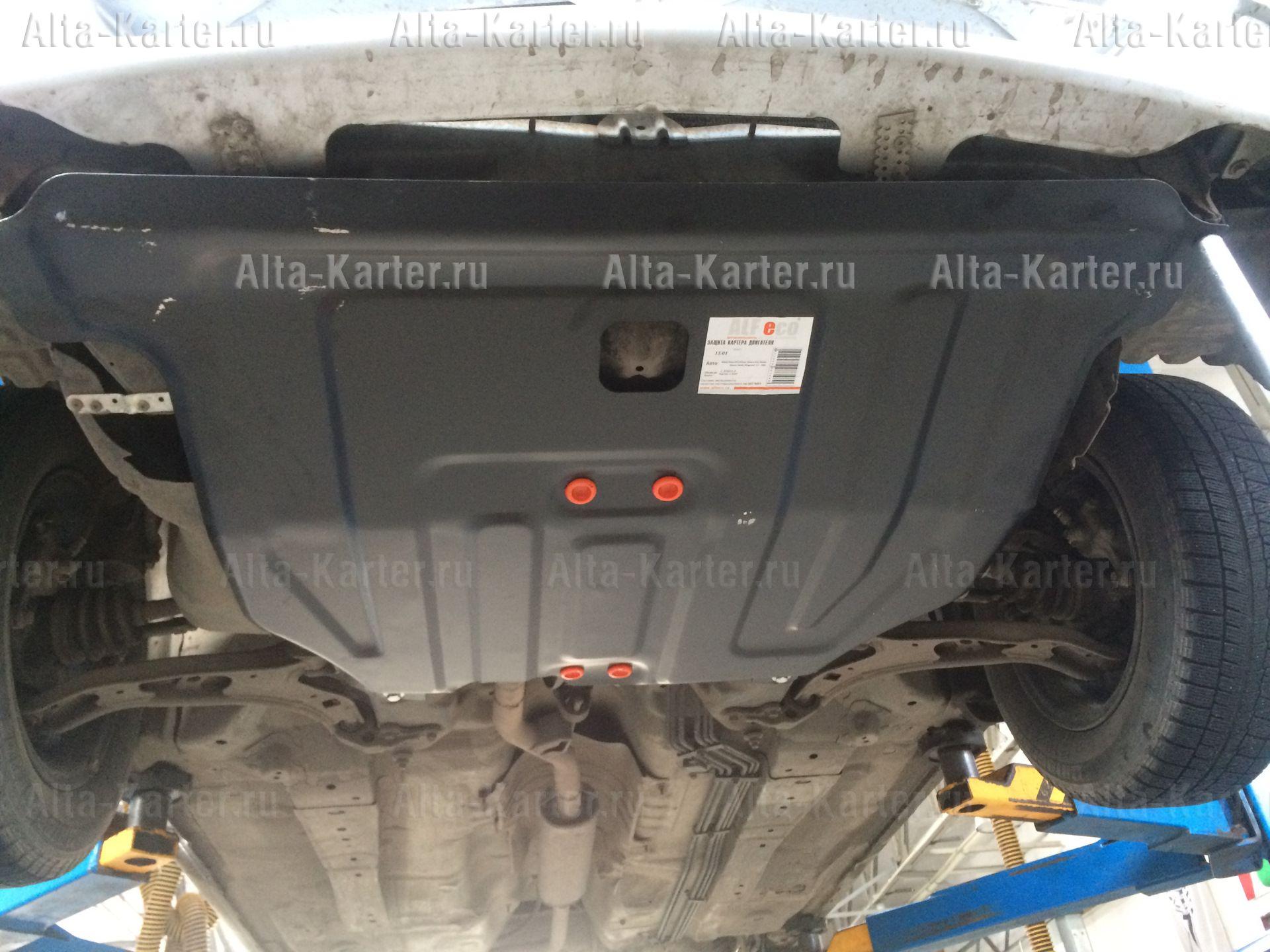Защита Alfeco для картера и КПП Nissan Wingroad Y11 2WD 1999-2006. Артикул ALF.15.01