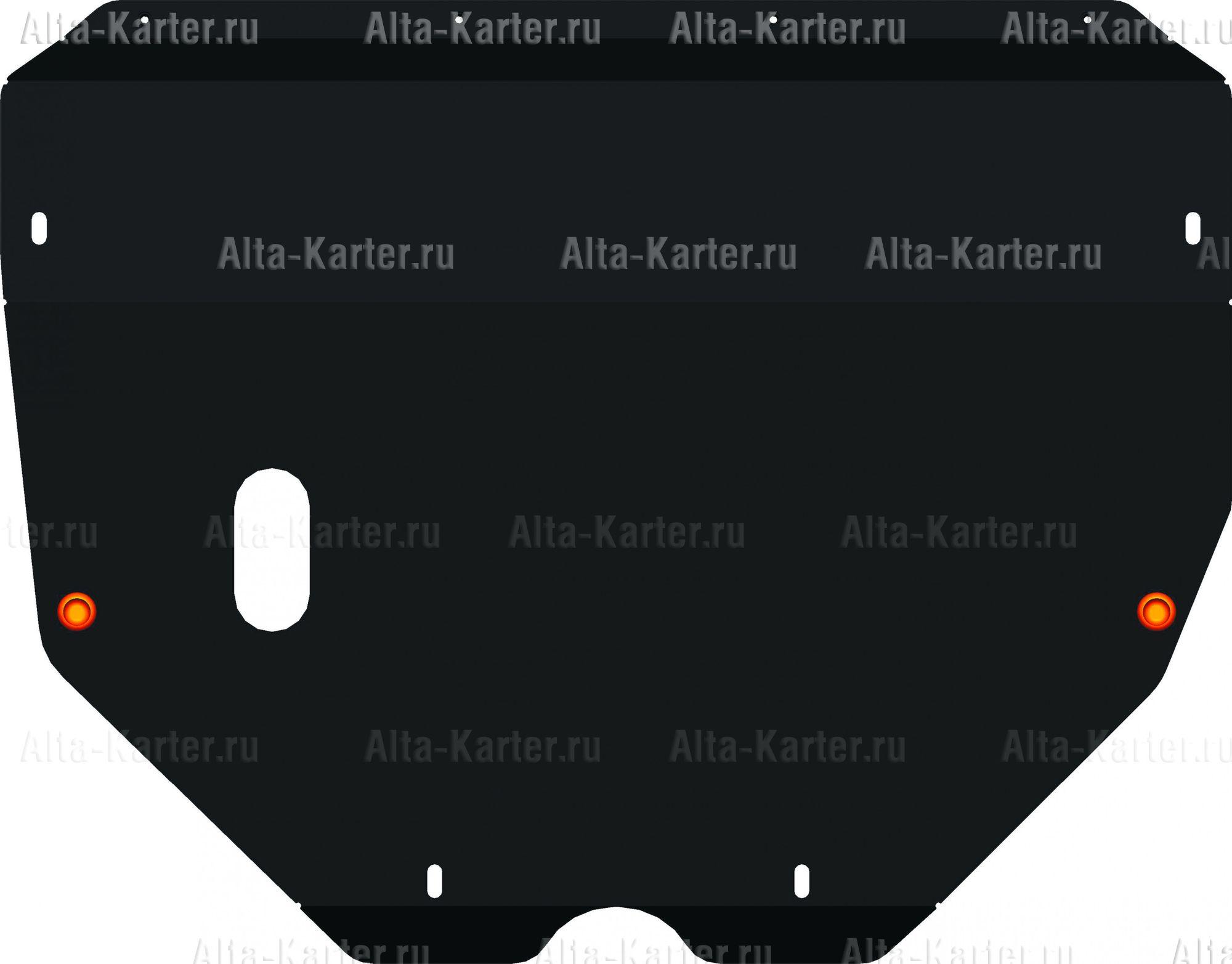 Защита Alfeco для картера и КПП Toyota Sienna I 1997-2003. Артикул ALF.24.73
