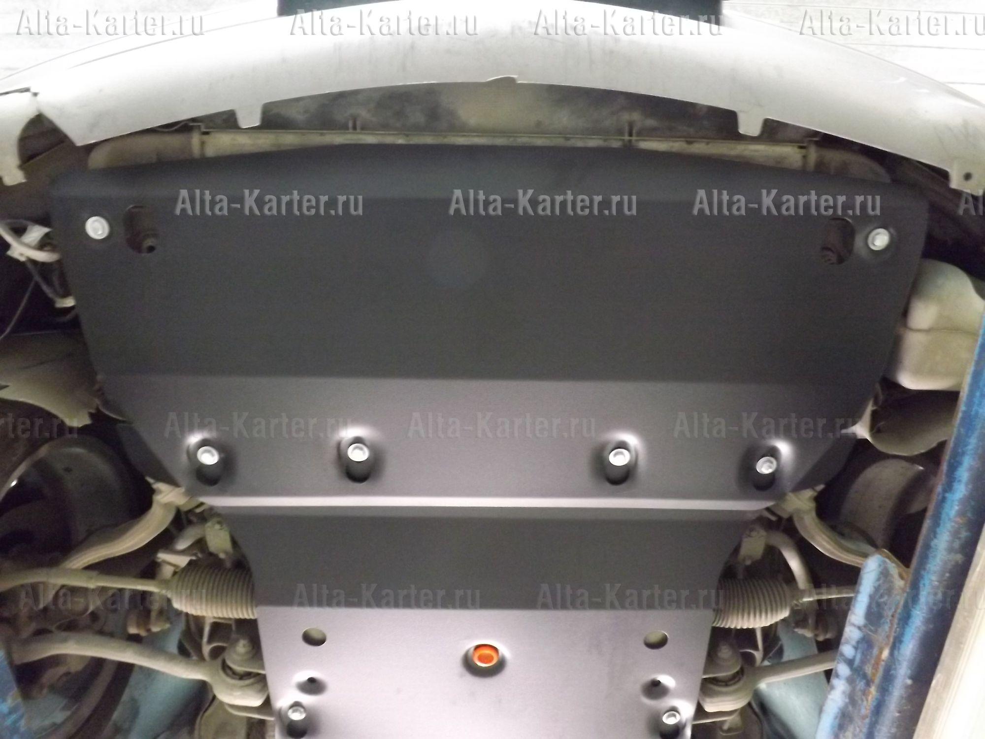 Защита Alfeco для радиатора и картера Mercedes-Benz CLK-Класс W209 до рестайлинга 2002-2005. Артикул ALF.36.17