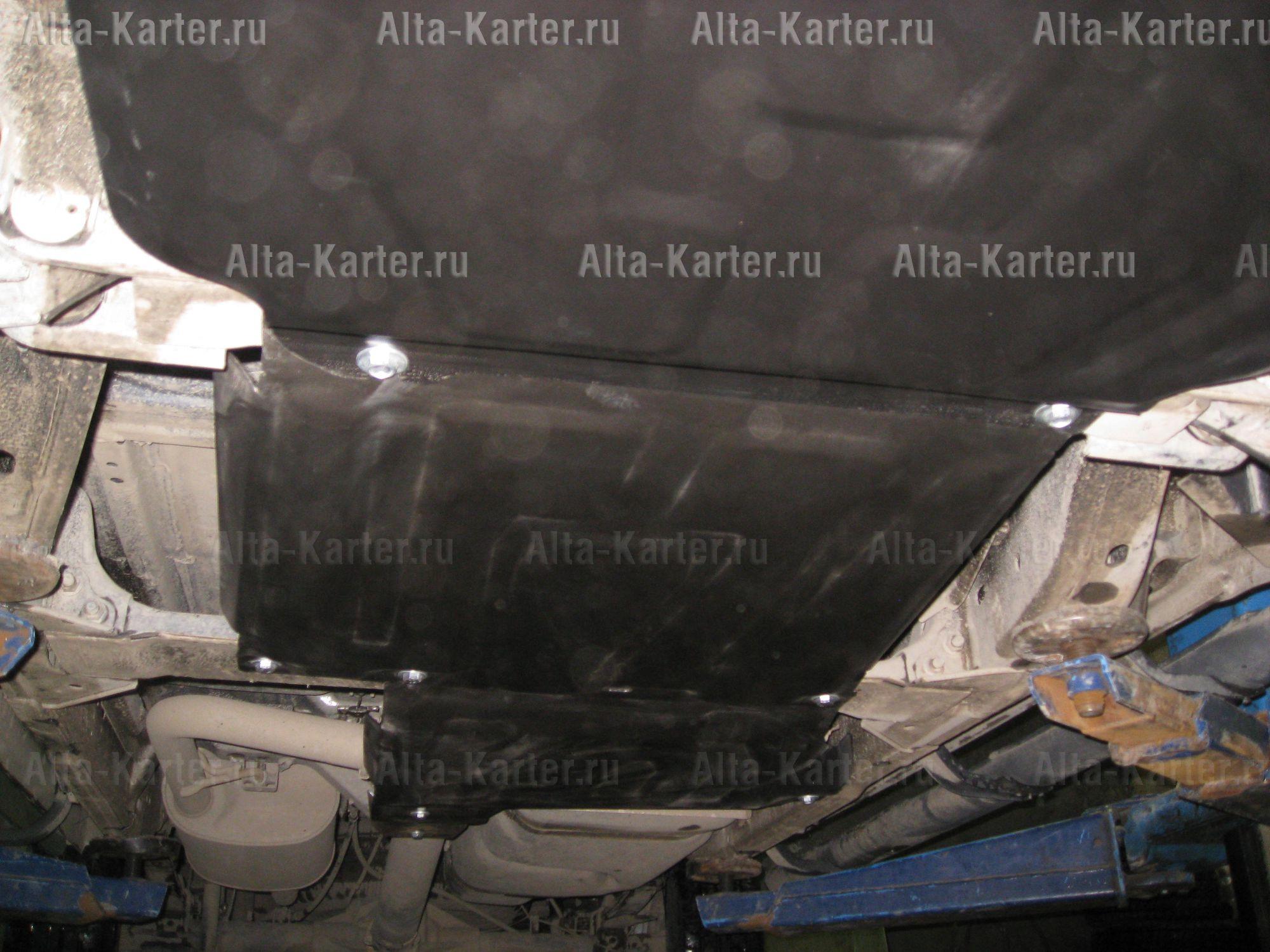 Защита Alfeco для картера, радиатора, раздатки и КПП Nissan Pathfinder R51 2004-2014. Артикул ALF.15.05,06,10
