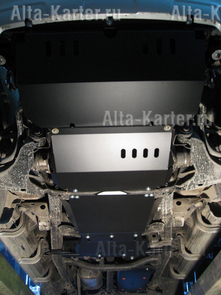 Защита Alfeco для картера, радиатора, КПП и раздатки (4 части) Mitsubishi L200 IV 2006-2015. Артикул ALF.14.08 + ALF.14.09