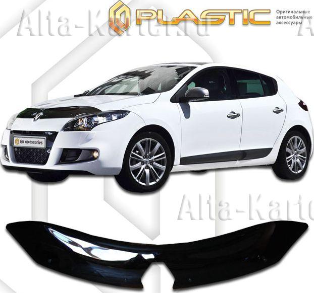 Дефлектор СА Пластик для капота (Classic черный) Renault Megane 2010-2014. Артикул 2010010105785