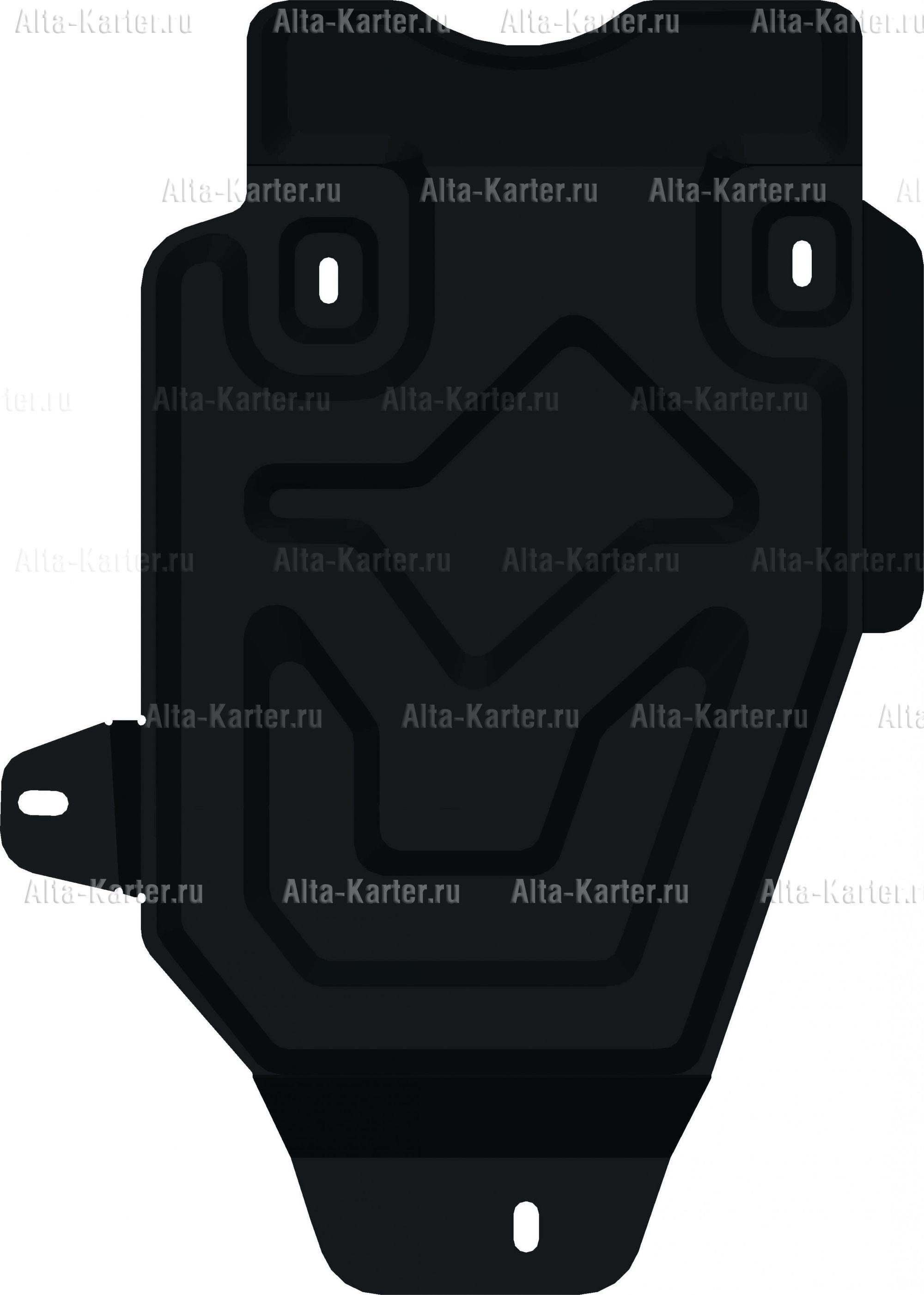 Защита Alfeco для редуктора заднего моста Nissan Terrano 4WD 2014-2021. Артикул ALF.18.04 st