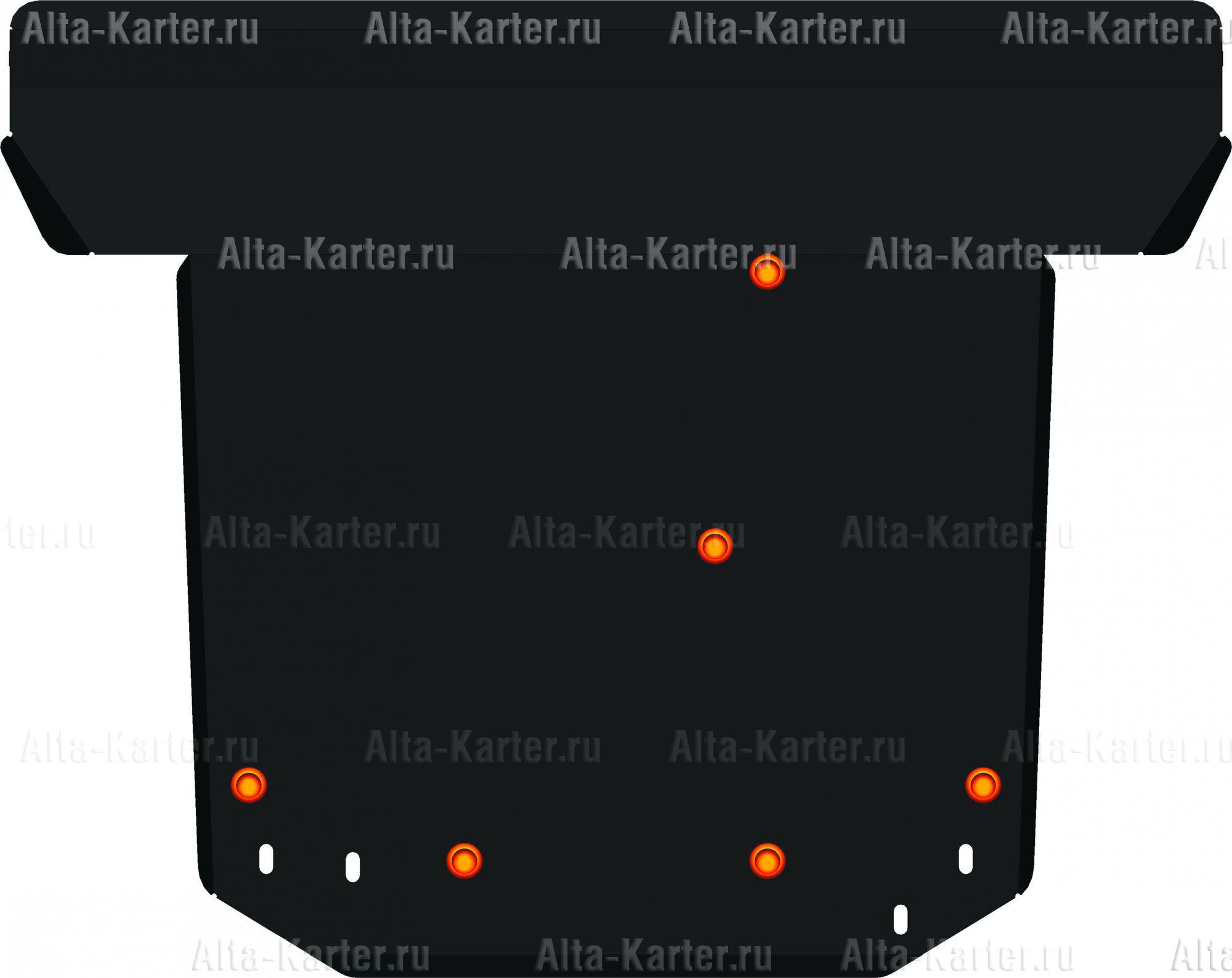 Защита Alfeco для картера и КПП Kia Clarus II 1995-2001. Артикул ALF.13.16