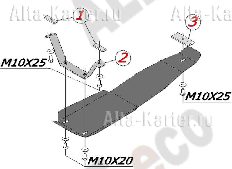 Защита Alfeco для редуктора Subaru Forester ll 2002-2008. Артикул ALF.22.15