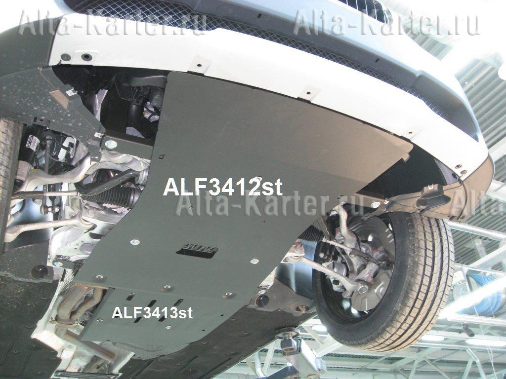 Защита Alfeco для картера и радиатора BMW Х1 E84 sDrive 2009-2015. Артикул ALF.34.12