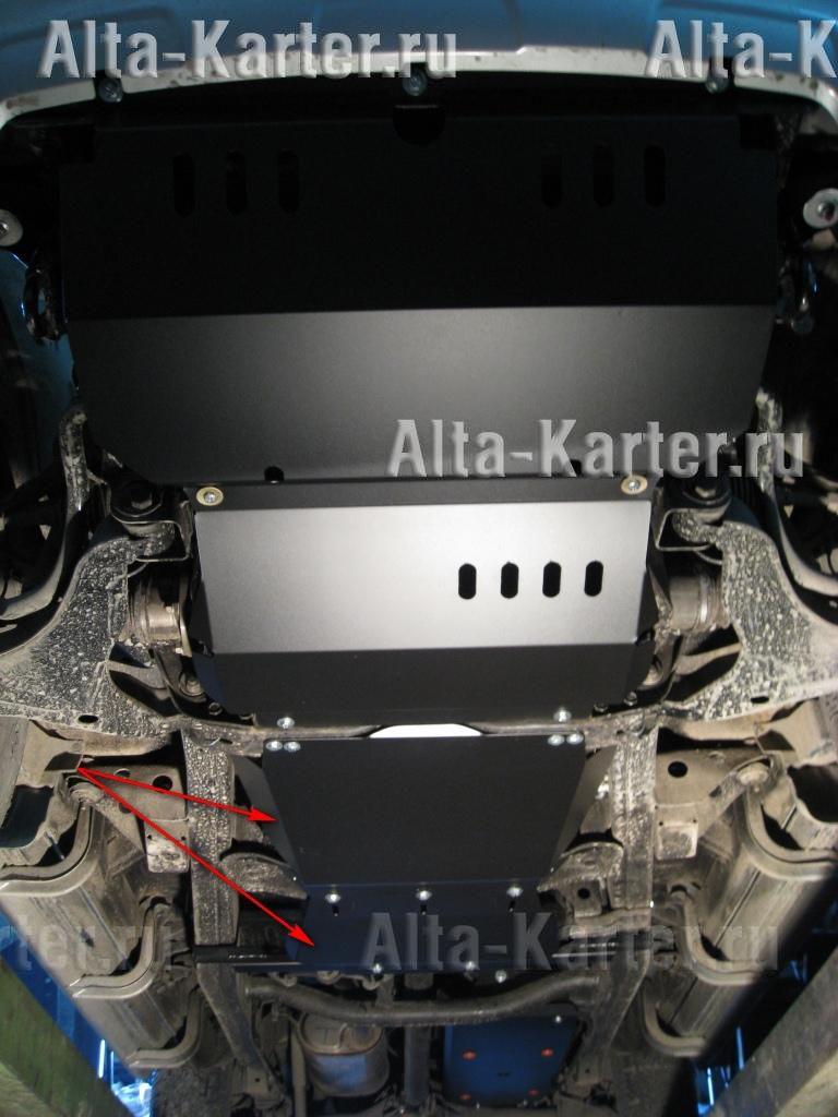 Защита Alfeco для КПП и раздатки (2 части) Mitsubishi L200 IV 2006-2015. Артикул ALF.14.09