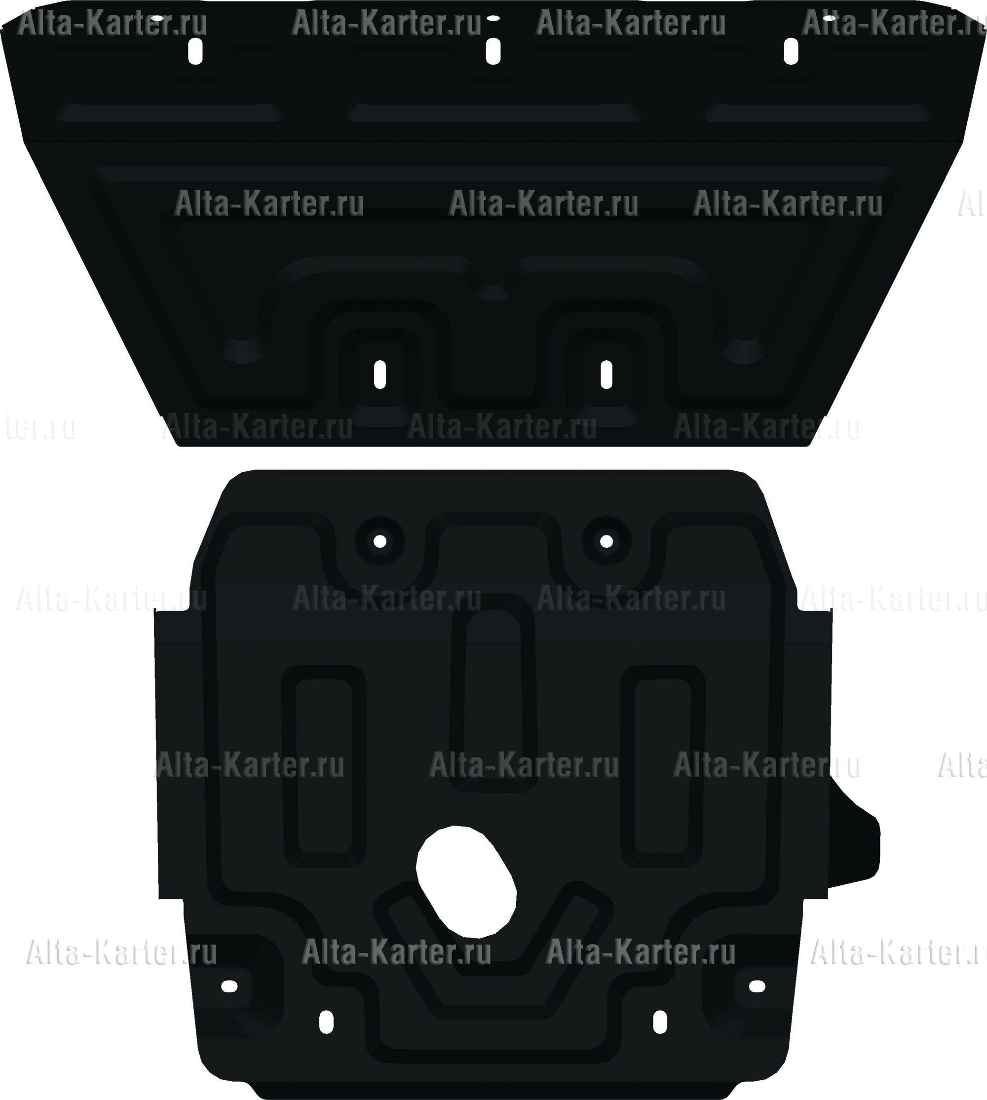 Защита Alfeco для картера и рулевых тяг Toyota Land Cruiser 150 Prado 2009-2021. Артикул ALF.24.40 st