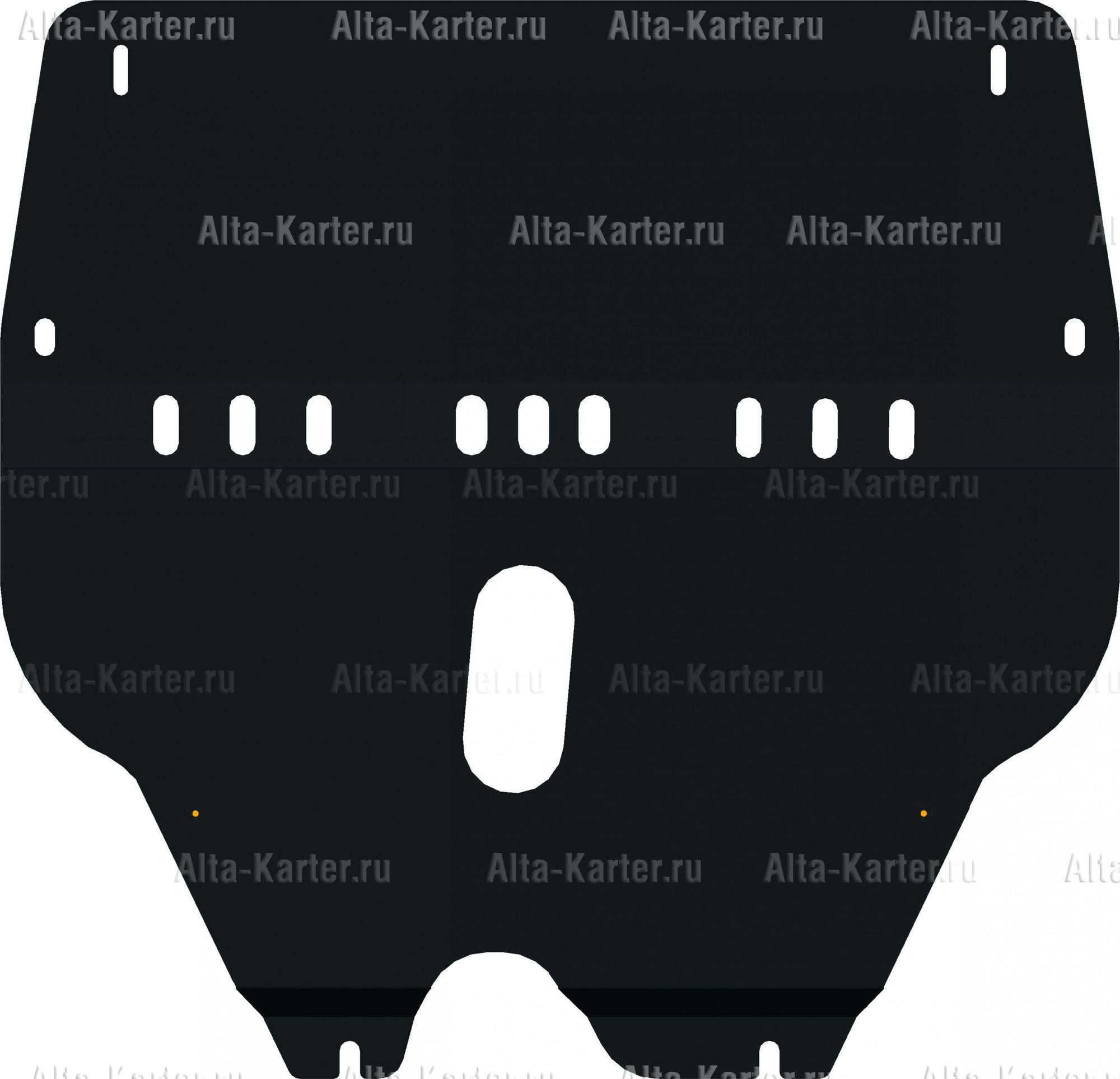 Защита Alfeco для картера и КПП Skoda Roomster 2006-2015. Артикул ALF.20.01