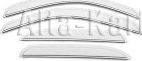Дефлекторы Cobra Tuning EuroStandart (третья часть) для окон Mitsubishi Outlander III 2012 по наст. вр. Белые. Артикул MEW43712(3)