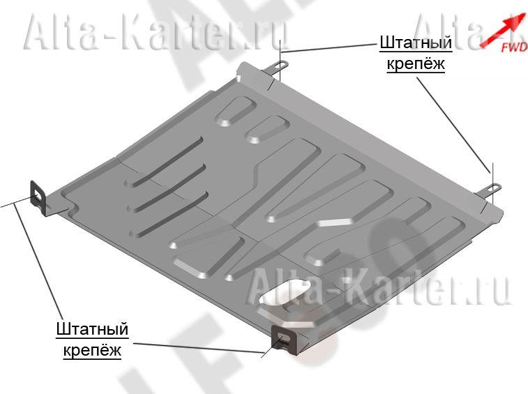 Защита Alfeco для картера и АКПП Datsun on-DO 2014-2021. Артикул ALF.28.140st