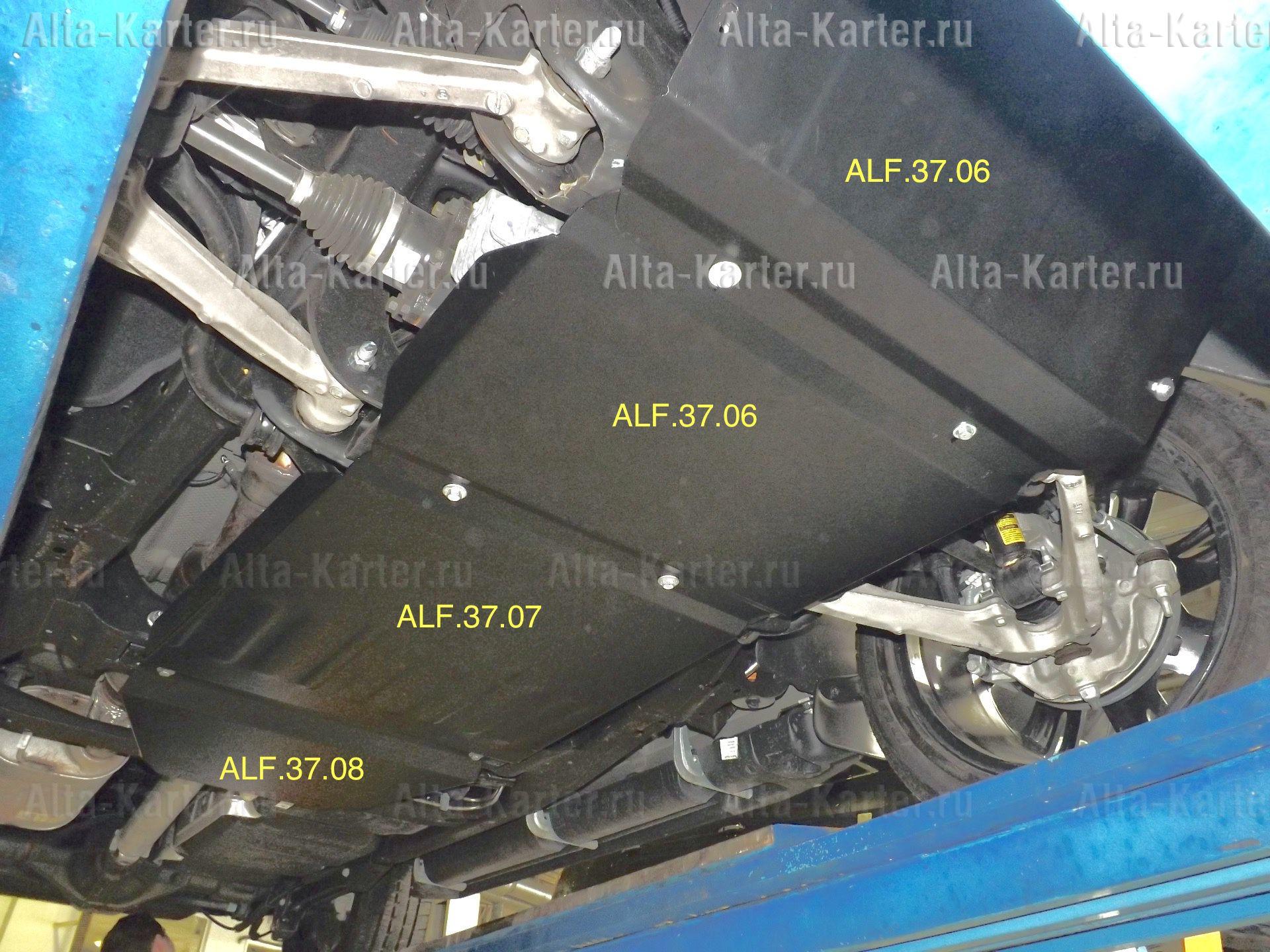 Защита Alfeco для КПП Chevrolet Tahoe IV 2014-2021. Артикул ALF.37.07