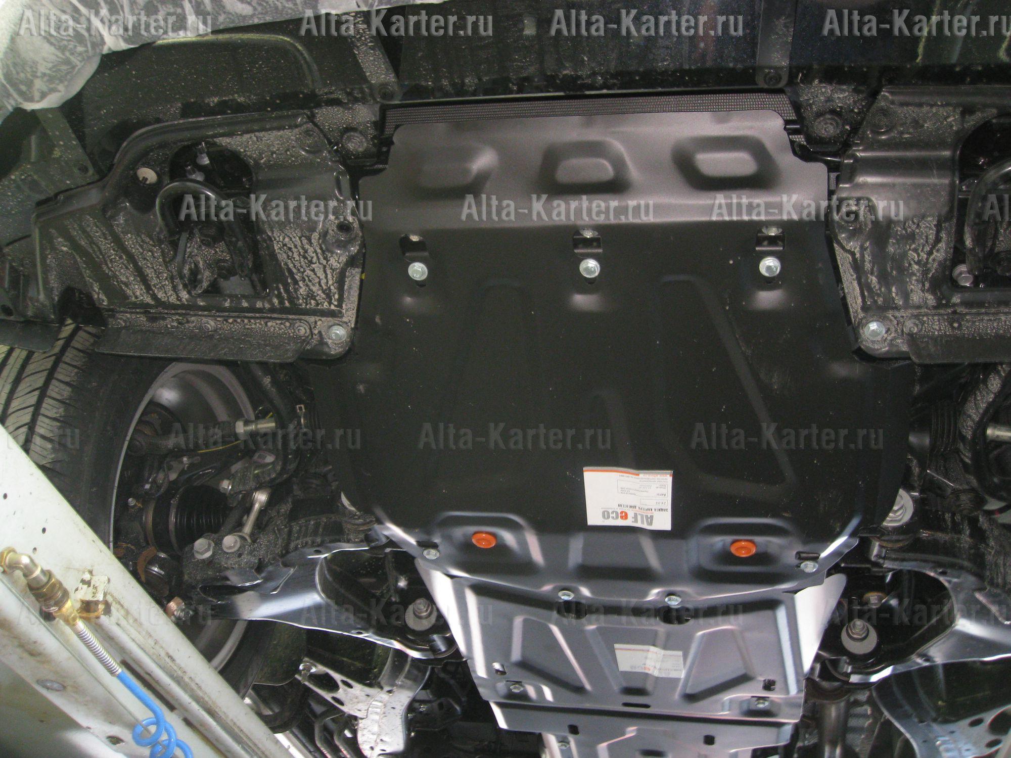 Защита Alfeco для радиатора, картера и КПП Toyota Land Cruiser 200 2015-2021. Артикул ALF.24.95,96,97