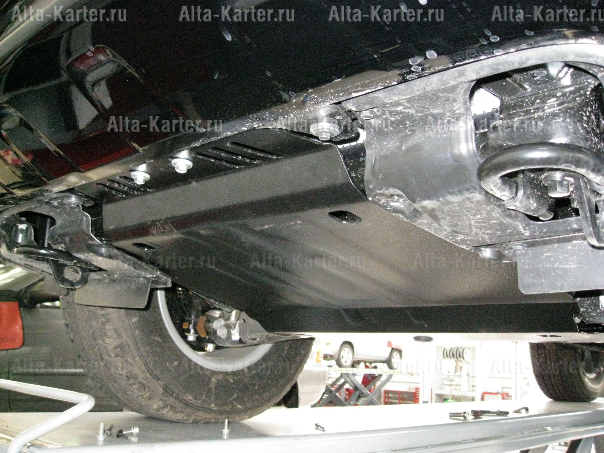 Защита Alfeco для картера, радиатора и КПП Toyota Land Cruiser 200 2008-2021. Артикул ALF.12.05+ALF.12.06