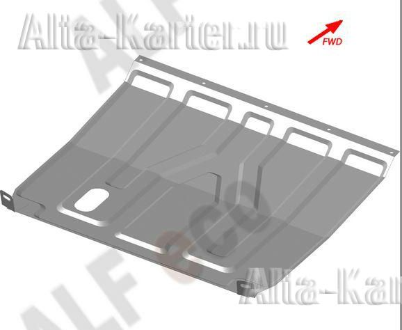 Защита Alfeco для картера и КПП (без хомутов) Lada Priora 2007-2021. Артикул ALF.28.11 st
