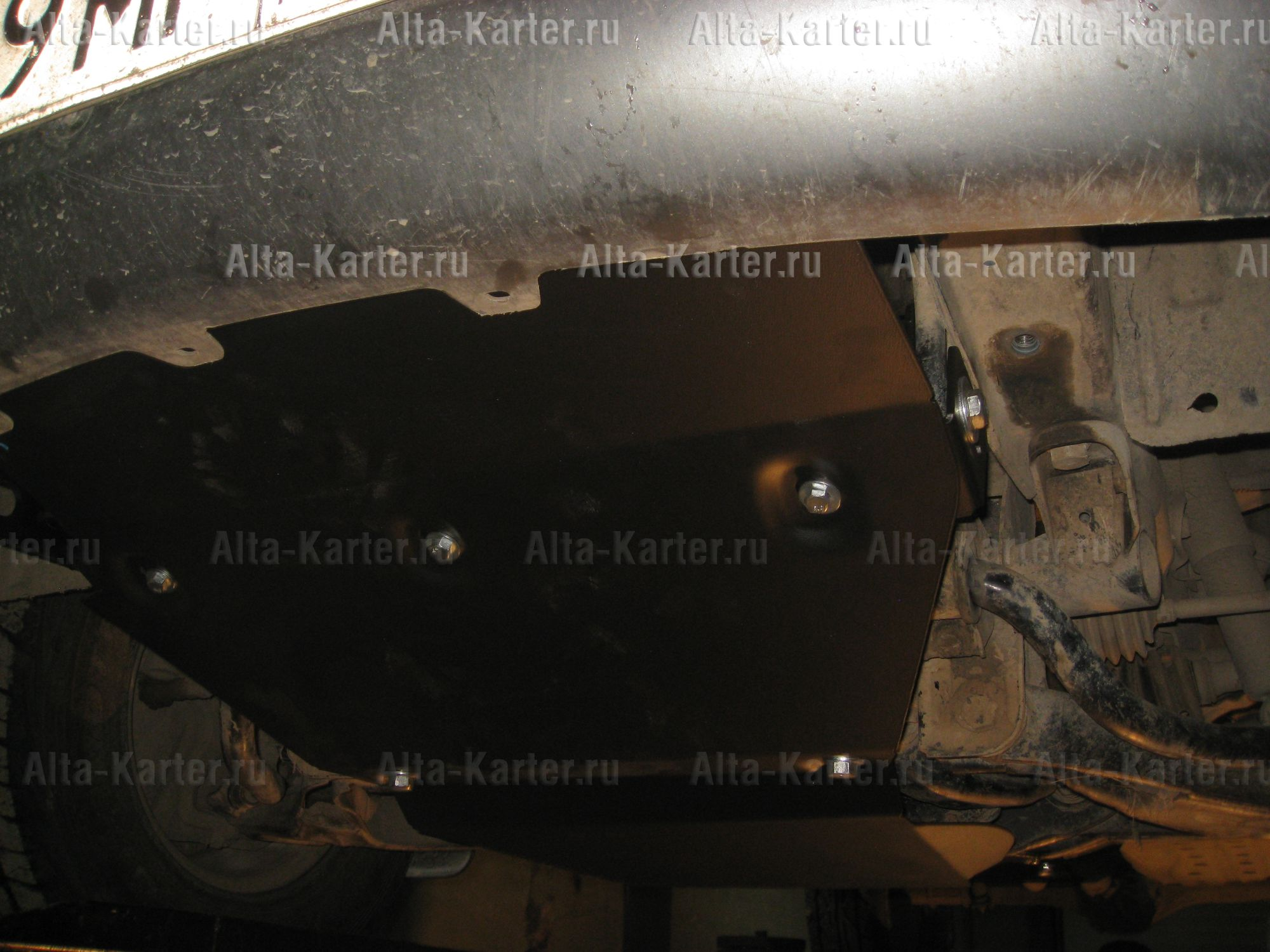 Защита Alfeco для картера и радиатора Mitsubishi Delica IV D4 1996-2007. Артикул ALF.14.32