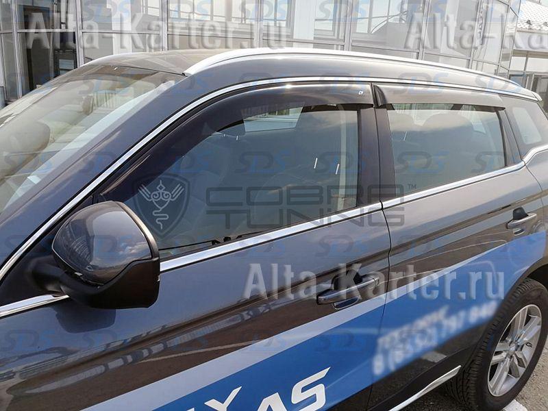 Дефлекторы Cobra Tuning Euro Standard для окон Geely Atlas 2018 по наст. вр.. Артикул GE11018