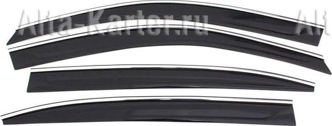 Дефлекторы Cobra Tuning для окон (c хром. молдингом) Renault Duster I 2010-2015. Артикул R12711CR