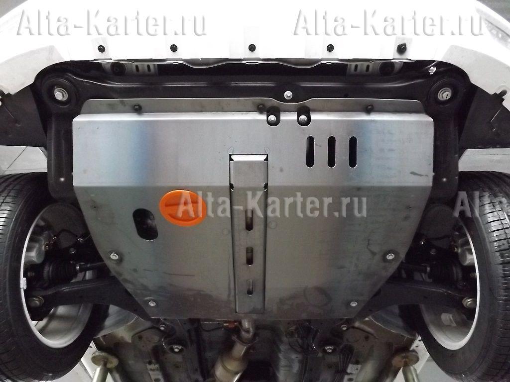 Защита алюминиевая Alfeco для картера и КПП НТМ Boliger (Hawtai Boliger) FWD 2014-2021. Артикул ALF.54.01 AL4