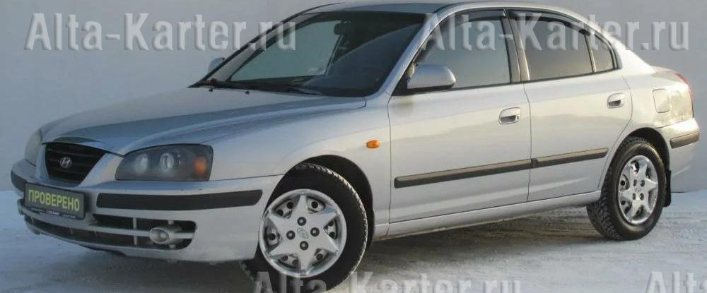 Дефлекторы Cobra Tuning для окон Hyundai Elantra III седан 2000-2006. Артикул H20200
