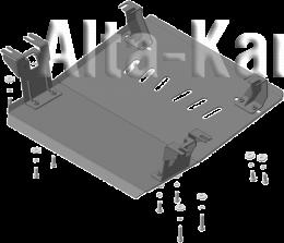 Защита Мотодор для радиатора JBC 1060 2016-2021. Артикул 27303